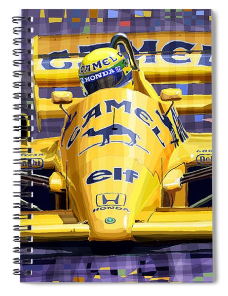 Lotus 99t Spa 1987 Ayrton Senna Spiral Notebook