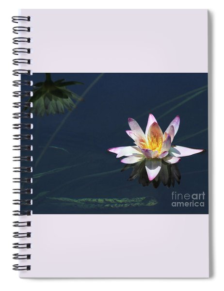 Lotus And Reflection Spiral Notebook