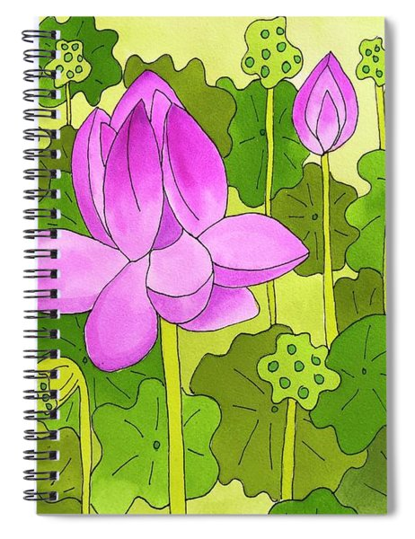 Lotus And Waterlilies Spiral Notebook