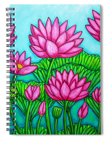 Lotus Bliss II Spiral Notebook
