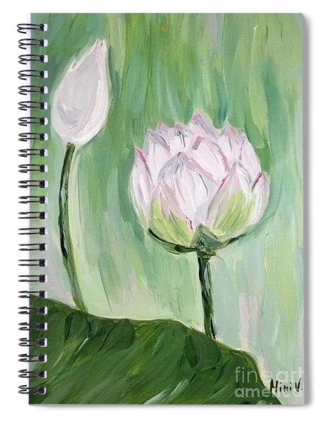 Lotus Emerging Spiral Notebook