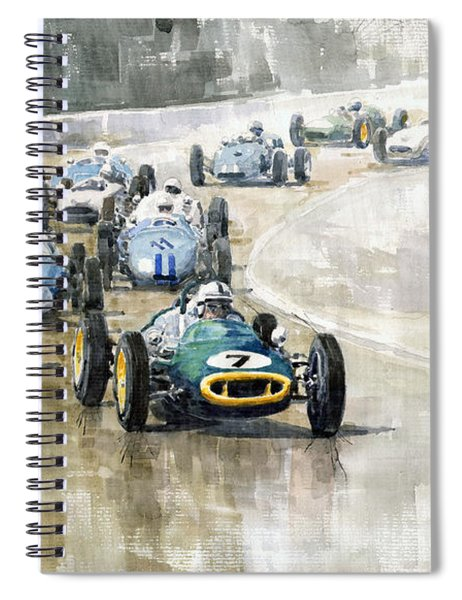 1961 Germany Gp  #7 Lotus Climax Stirling Moss Winner  Spiral Notebook
