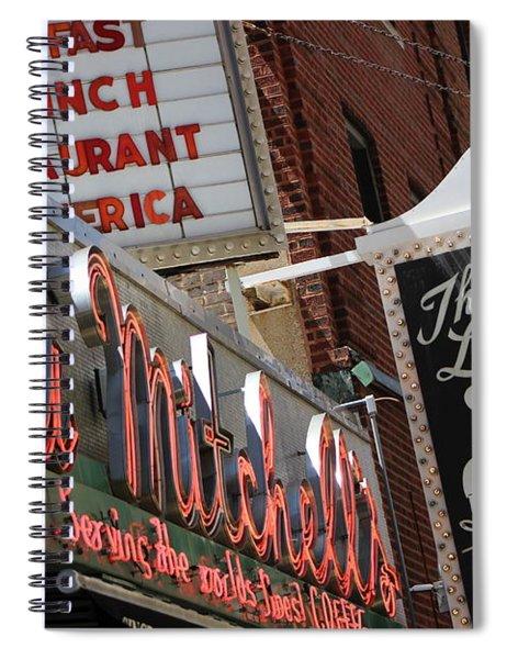 Lou Mitchells Restaurant And Bakery Chicago Spiral Notebook
