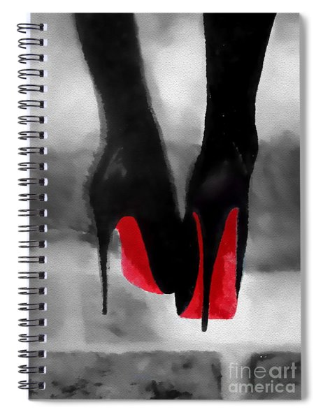 Louboutin At Midnight Black And White Spiral Notebook