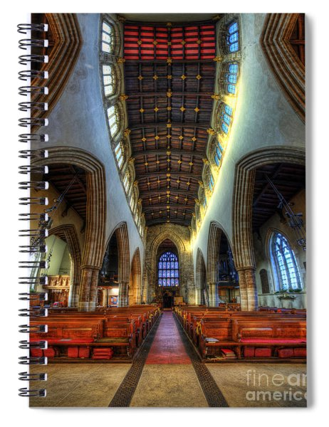 Loughborough Church - Nave Vertorama Spiral Notebook