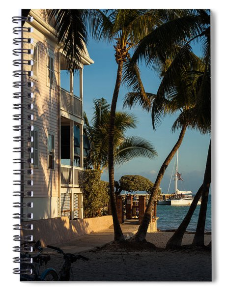 Spiral Notebook featuring the photograph Louie's Backyard by Ed Gleichman
