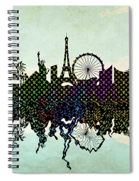 Louis Vuitton Las Vegas Skyline Spiral Notebook