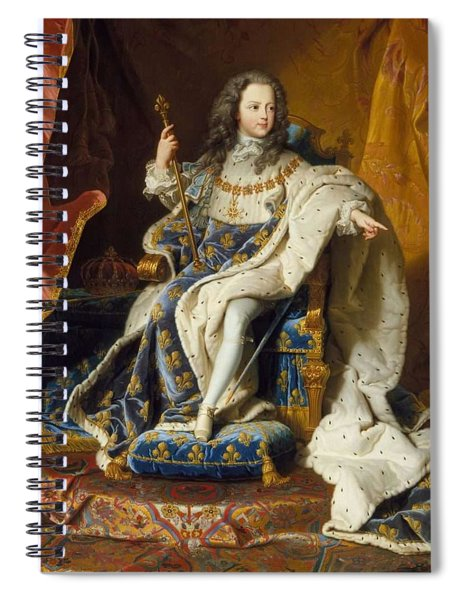 Louis Xv 1710-1774 By Hyacinthe Rigaud Spiral Notebook