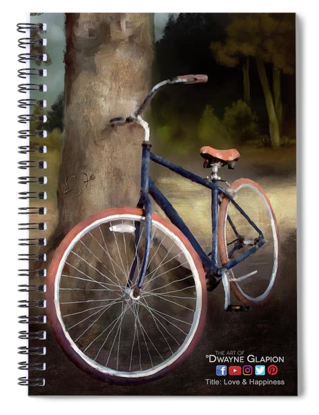 Love And Happiness Poster Spiral Notebook