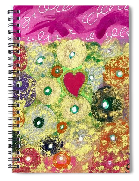 Love And Silly Bubbles Spiral Notebook