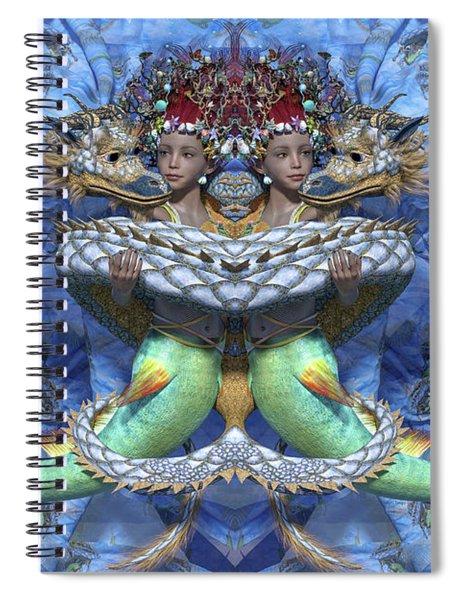 Love And War Mirrored Custom Spiral Notebook
