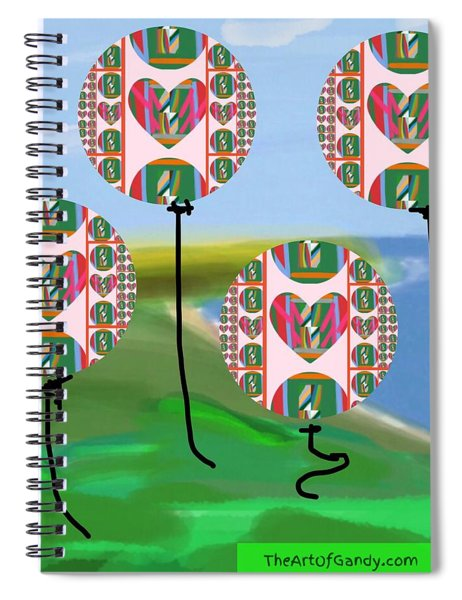 Love Balloons Protecting Guam Spiral Notebook