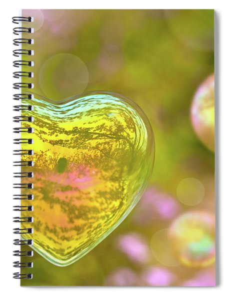 Love Bubble Spiral Notebook