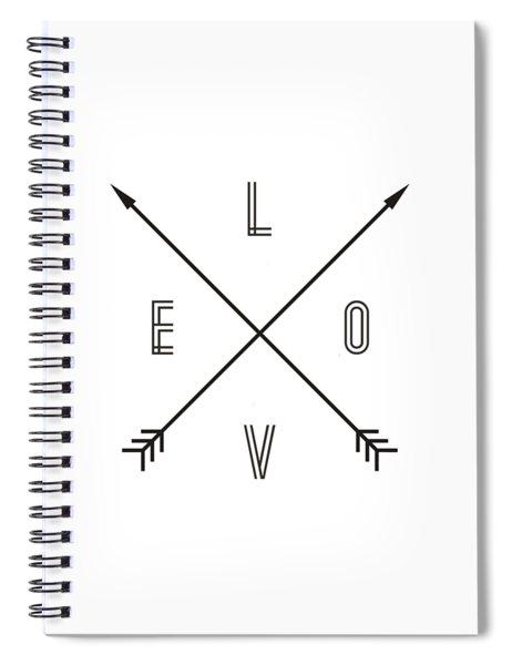 Love Compass Spiral Notebook
