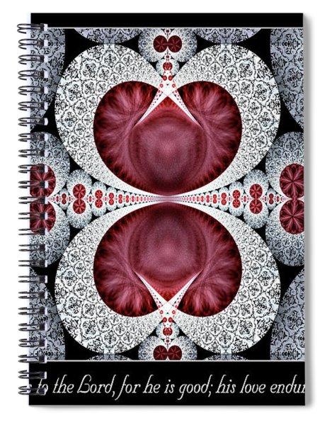 Love Endures Forever Spiral Notebook