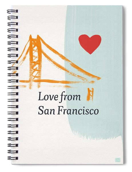 Love From San Francisco- Art By Linda Woods Spiral Notebook