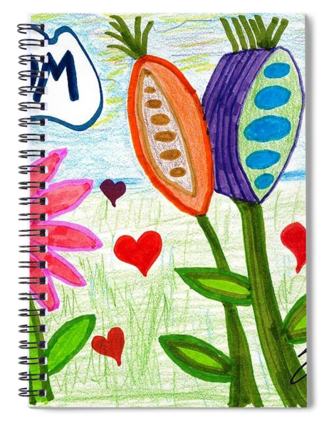 Love In Bloom Spiral Notebook