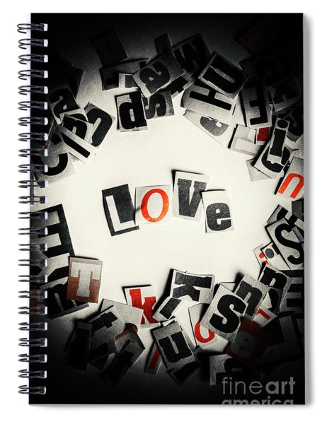 Love In Letters Spiral Notebook