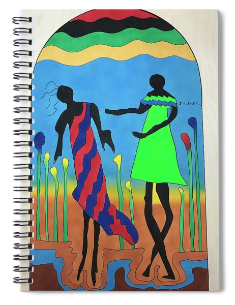 Love In The Reeds Spiral Notebook