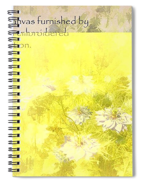 Love Is A Canvas - Nigella Damascena Spiral Notebook