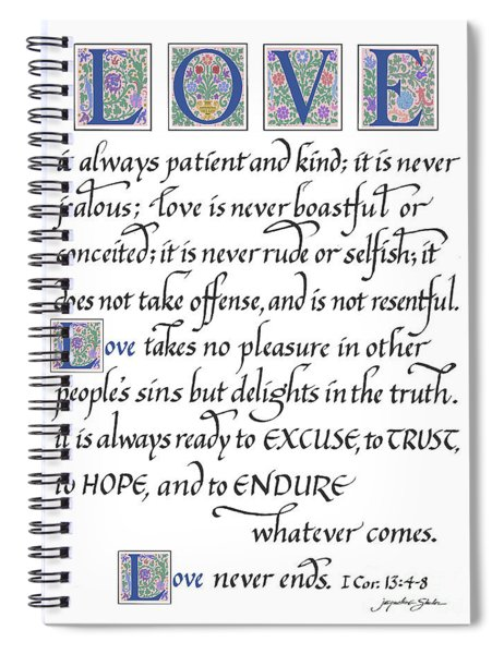 Love Is Always Patient Spiral Notebook