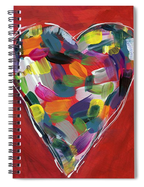 Love Is Colorful - Art By Linda Woods Spiral Notebook
