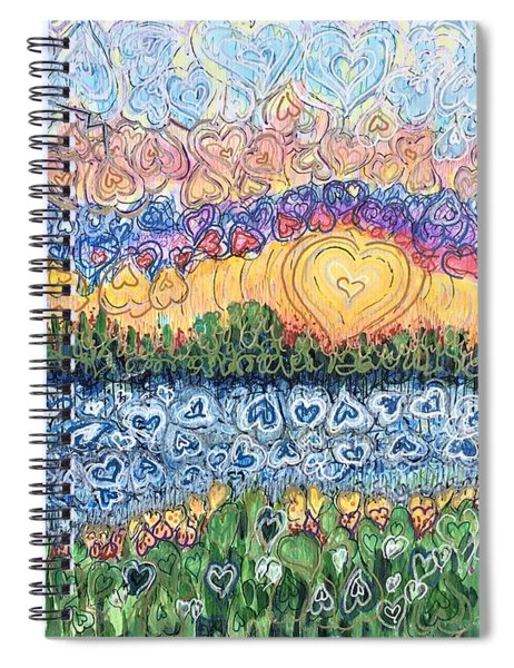 Love Is Everywhere If You Look Spiral Notebook
