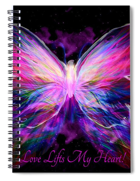 Love Lifts My Heart Spiral Notebook
