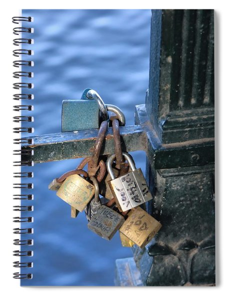 Love Lock Spiral Notebook