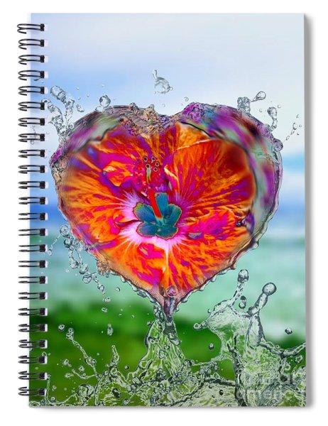Love Makes A Splash Spiral Notebook