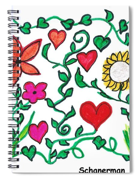 Love On The Vine Spiral Notebook