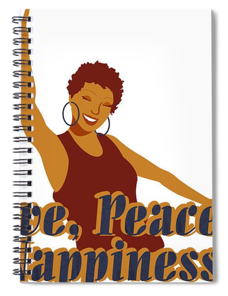 Love Peace And Nappiness Spiral Notebook