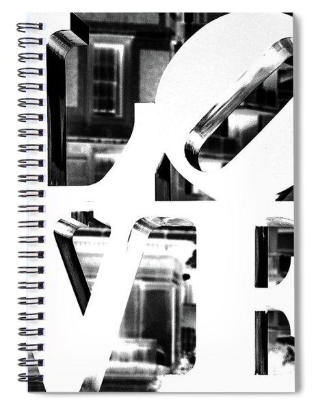 Love Philadelphia White  Spiral Notebook