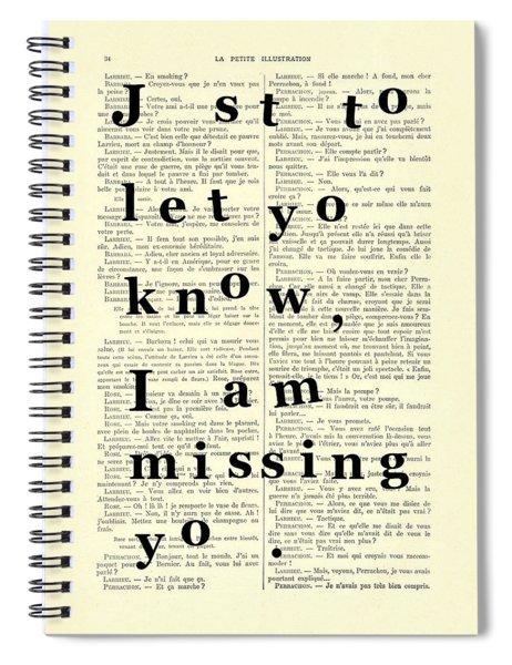 Love Poem, Valentine Gift  Spiral Notebook