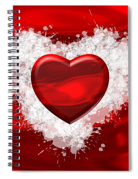 Love Red Passion Spiral Notebook