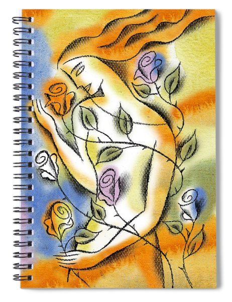 Love, Roses And Thorns Spiral Notebook