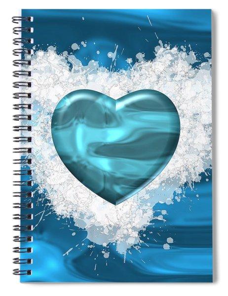 Love Water Spiral Notebook