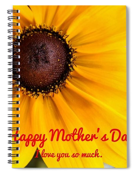 Spiral Notebook featuring the photograph Love You Mama by Alison Frank