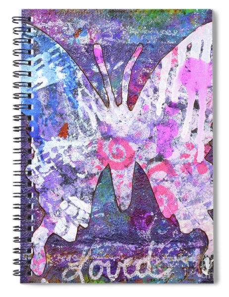 Loved Butterfly Spiral Notebook