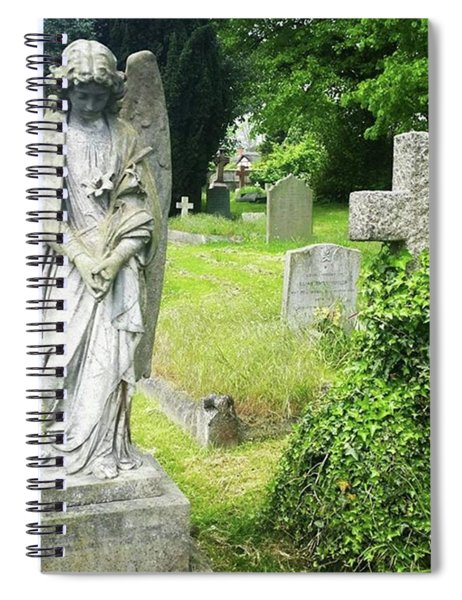 Angel With Lillies Spiral Notebook