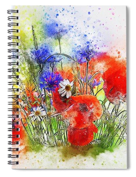 Watercolour Bouquet Spiral Notebook