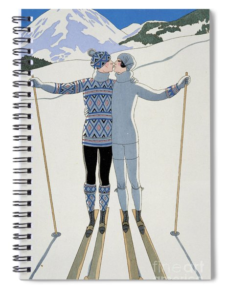Lovers In The Snow Spiral Notebook