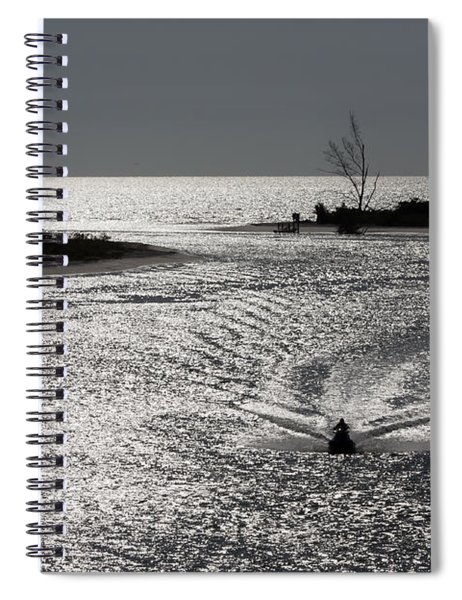 Spiral Notebook featuring the photograph Lover's Key Sparkles by Ed Gleichman
