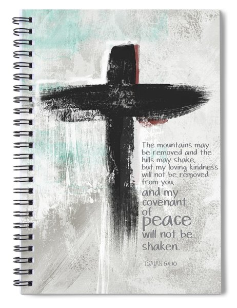 Loving Kindness Cross- Art By Linda Woods Spiral Notebook