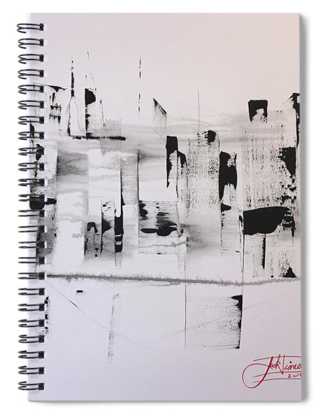 Low Clouds High Buildings Spiral Notebook