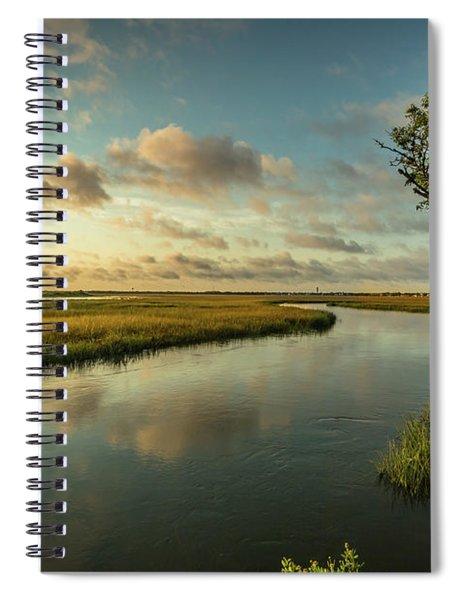 Pitt Street Bridge Creek Sunrise Spiral Notebook