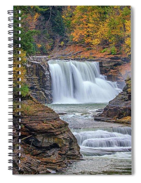 Lower Falls In Autumn Spiral Notebook
