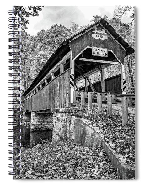 Lower Humbert Covered Bridge 2 Bw Spiral Notebook