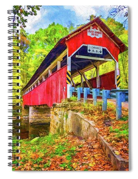 Lower Humbert Covered Bridge 2 - Paint 2 Spiral Notebook