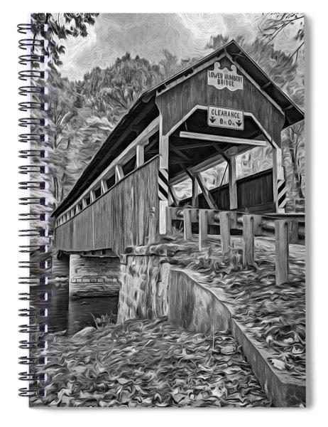 Lower Humbert Covered Bridge 2 - Paint Bw Spiral Notebook